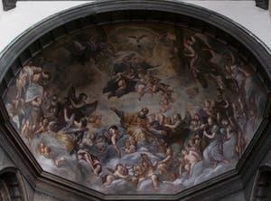 Girolamo Pellegrini, saint Zacharie en Gloire, San Zaccaria in Gloria, cuvette de l'abside de l'église San Zaccaria à Venise