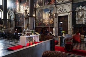 Intérieur de l'église San Zaccaria, Saint-Zacharie à Venise en Italie