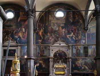Intérieur de l'église San Zaccaria, saint Zacharie à Venise en Italie