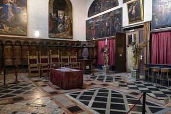Stalles de la chapelle Sant'Atanasio, saint Athanase de Francesco et Marco Cozzi dans l'église San Zaccaria à Venise