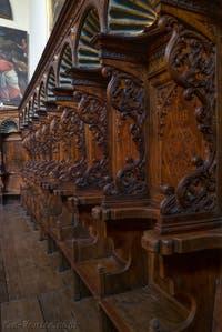 Stalles de la chapelle Sant'Atanasio, Saint-Athanase de Francesco et Marco Cozzi dans l'église San Zaccaria à Venise