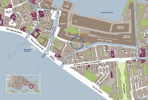Plan de Situation des Pavillons des Arsenal de la Biennale d'Art à Venise Italie