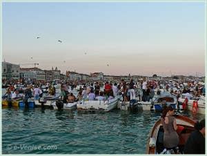 Fête du Redentore à Venise - Le Bassin de Saint-Marc devant la Riva degli Schiavoni
