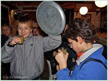 Les petits Vénitiens à la fête de la Saint Martin