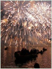 Le Feu d'Artifice de la Fête du Redentore à Venise