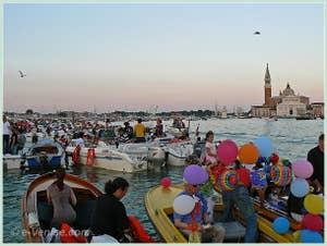 Fête du Redentore à Venise - Le Bassin de Saint-Marc devant la Riva degli Schiavoni.