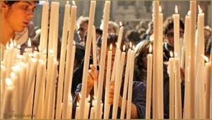 La fête de la Salute à Venise et ses centaines de cierges qui illuminent l'église