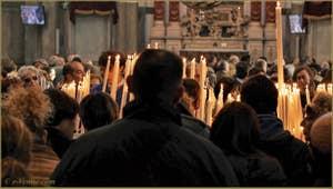 Les Vénitiens lors de la fête de la Salute à Venise.