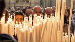 Les prières des Vénitiens lors de la fête de la Madona de la Salute à Venise