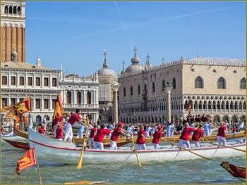 La fête de la Sensa à Venise, devant le Campanile de Saint-Marc et le palais des Doges
