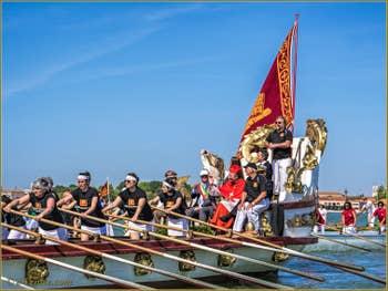 La fête de la Sensa à Venise, la Serenissima et ses officiels, Le maire, Monseigneur Moravia, le Patriarche de Venise et l'Amiral