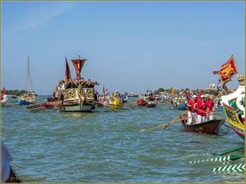 La fête de la Sensa à Venise, le cortège devant les Giardini et Sant'Elena