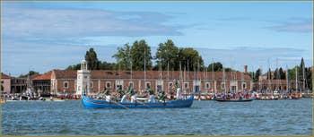 Vogalonga Venise : Devant l'île de San Giorgio Maggiore