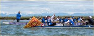 Vogalonga Venise : le long de l'île de Sant' Erasmo