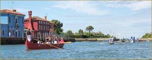 Vogalonga Venise : Le long de l'île de Mazzorbo