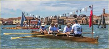 Vogalonga Venise : Le long de l'île de Murano