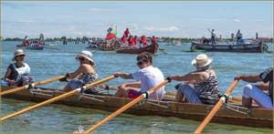 Vogalonga Venise : Devant Venise