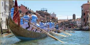 Vogalonga Venise : L'arrivée à Venise sur le canal de Cannaregio