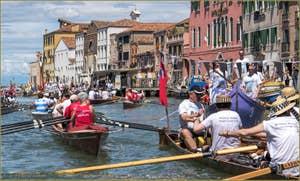 Vogalonga Venise : Sur le canal de Cannaregio