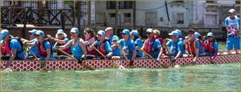 Vogalonga Venise : Sur le Grand Canal