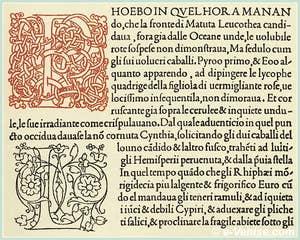 L'Hypnerotomachia Poliphili, ouvrage imprimé par Aldo Manuzio