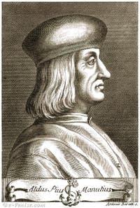 Portrait d'Aldo Manuzio, imprimeur à Venise