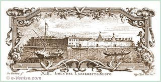 L'île du Lazzaretto Nuovo par Antonio Visentini