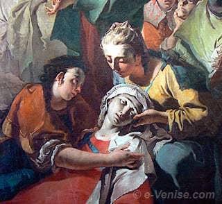 Giambattista Tiepolo - Crucifixion détail, la Vierge évanouie
