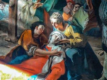 Giambattista Tiepolo - Crucifixion détail, la Vierge évanouie, église San Martino Vescovo sur l'île de Burano à Venise