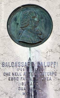 Baldassare Galuppi, sur la place du même nom à Burano