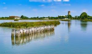 L'île de Torcello dans la Lagune Nord de Venise