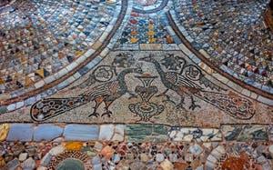 Mosaïque de la basilique Santi Maria e Donato, Saint-Donat, du XIIe siècle, sur l'île de Murano à Venise
