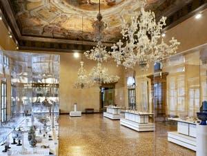 Le musée du verre de Murano, Palais Giustinian sur l'île de Murano à Venise