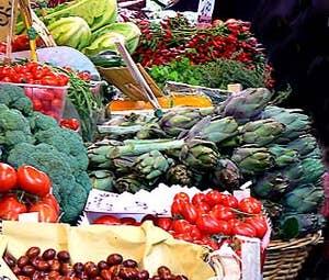 Le marché de l'Erberia où les légumes deviennent des fruits