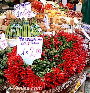 Les couleurs incandescentes du marché de l'Erbaria