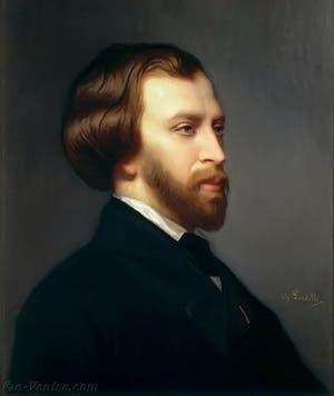 Portrait de l'écrivain Alfred de Musset