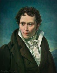 Portrait d'Arthur Schopenhauer par Ludwig Sigismund Ruhl en 1815