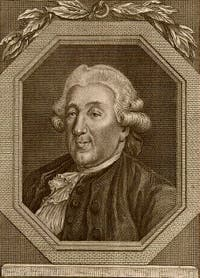 Portrait de Carlo Goldoni par Charles Nicolas Cochin