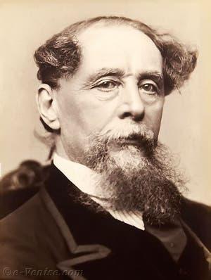 Portrait de l'écrivain Charles Dickens