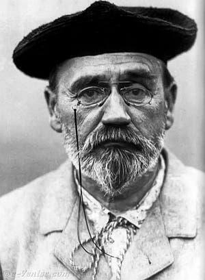 Portrait de l'écrivain Émile Zola