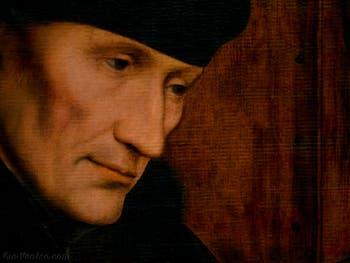 Érasme de Rotterdam par Quentin Metsys en 1529