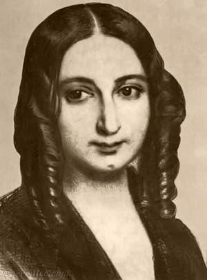 Portrait de l'écrivain George Sand