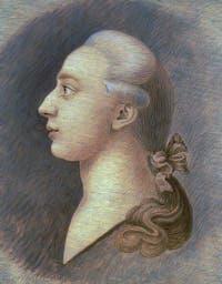 Portrait de Giacomo Casanova, un pastel réalisé par son frère Francesco Casanova en 1750-55