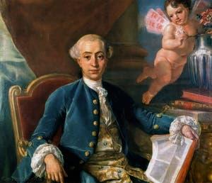 Portrait de Giacomo Casanova par Raphaël Mengs en 1760