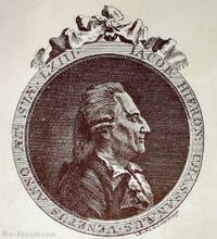Portrait de Giacomo Casanova âgé par Johann Berka en 1788