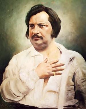 Portrait de l'écrivain Honoré de Balzac