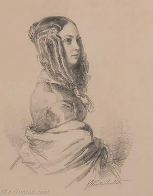 Portrait de l'écrivain Louise Colet