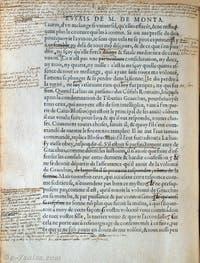 Edition des Essais, annotée de la main de Michel de Montaigne
