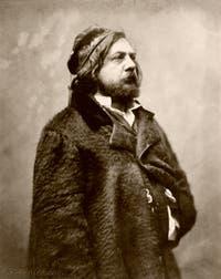 Théophile Gautier, photo de Nadar en 1857