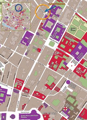 Plan de Situation de l'appartement Accademia San Marco à Florence en Italie